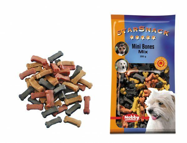 Snack hond mini bones mix 200gr