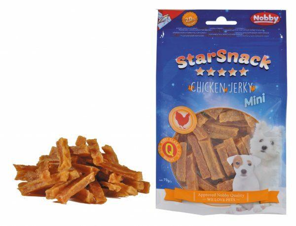 Snack hond mini kip jerky reepje 70gr
