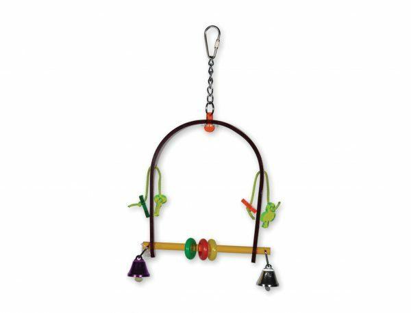 Speelgoed vogel plexi Swing multikleur 26cm