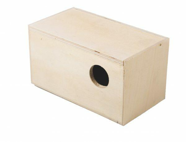 Houten exotennestkast hori 18,9x10,4x10,4cm Ø3,5cm