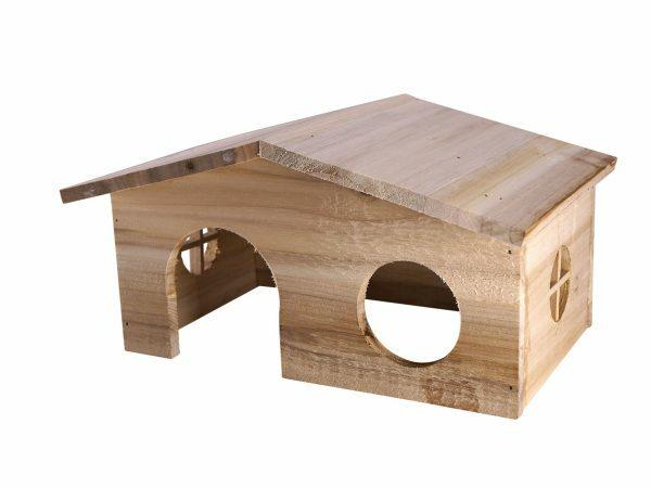 Knaagdierhuis hout Hali 28x19x15cm