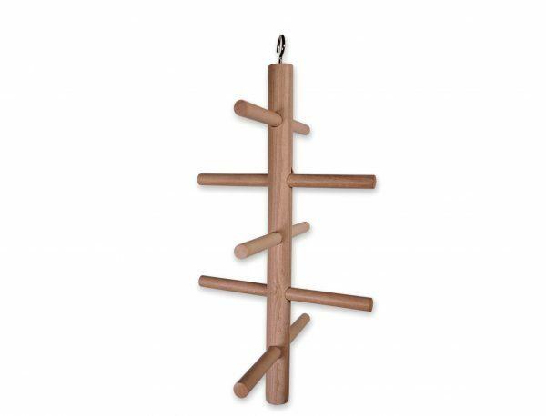 Speelgoed vogel hout klimboom 28x14 cm S