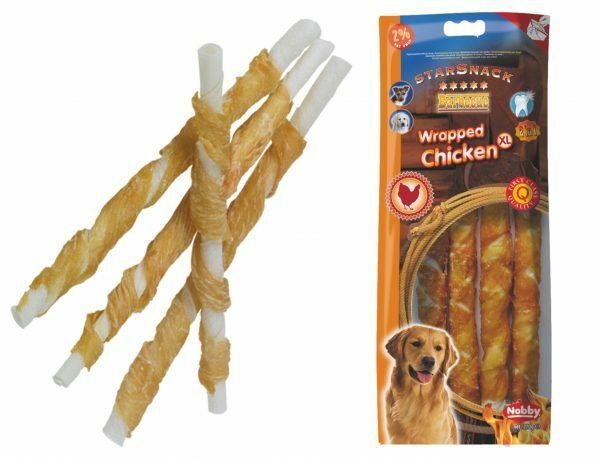 Snack hond kip stick omwikkeld 25cmx Ø20mm XL