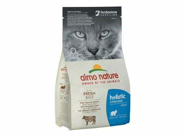 Holistic Cats 400g Sterilised - rundvlees en rijst
