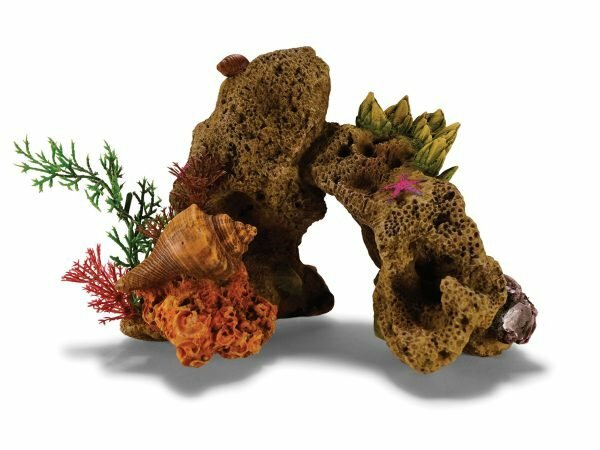 Aqua Deco Koraal rots met planten 190x120x140mm