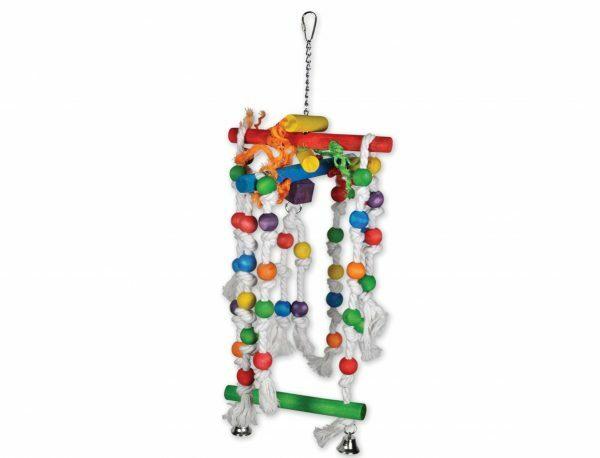 Speelgoed vogel hout Swing Fun multikleur 68cm
