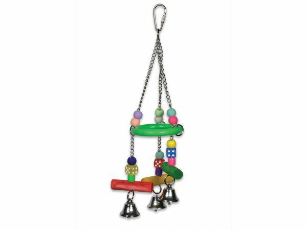 Speelgoed vogel ring dobbelstenen multikleur 30cm