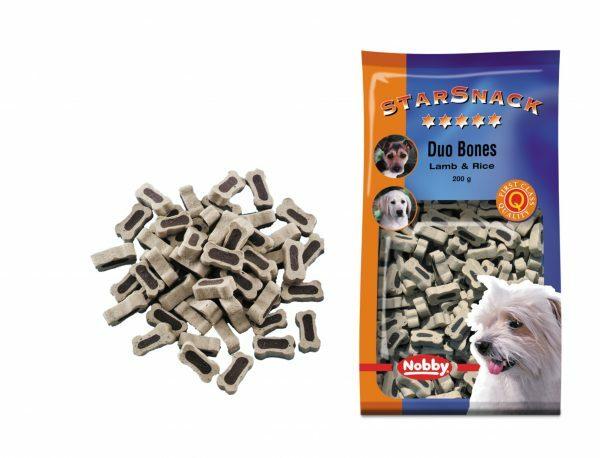 Snack hond duo bones lam en rijst 200gr