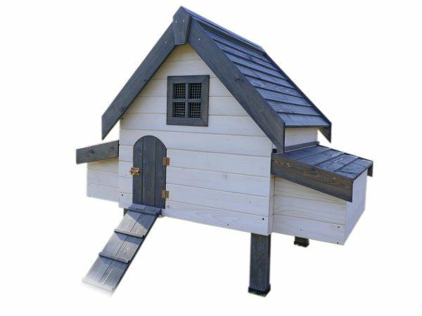 Kippenhok Robusta 3 wit 2 nest 100x100x142cm