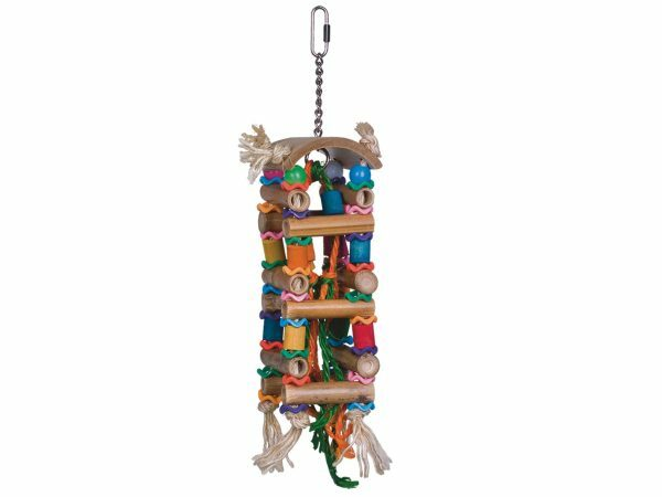 Speelgoed vogel Bamboo Tower multicolor 20cm