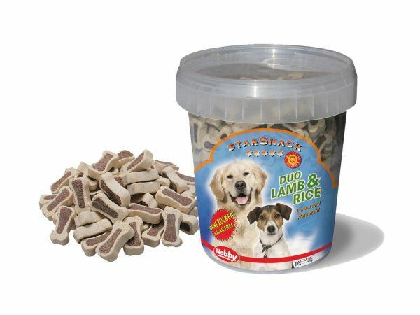 Snack hond emmer duo bones lam en rijst 500gr