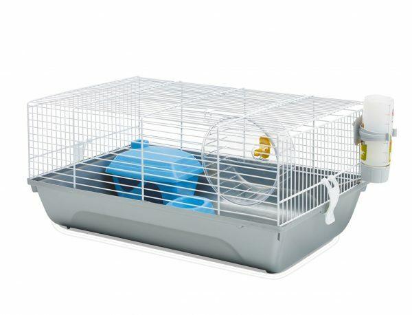 Hamsterkooi Home Martha wit/grijs 46,5x29,5x21cm