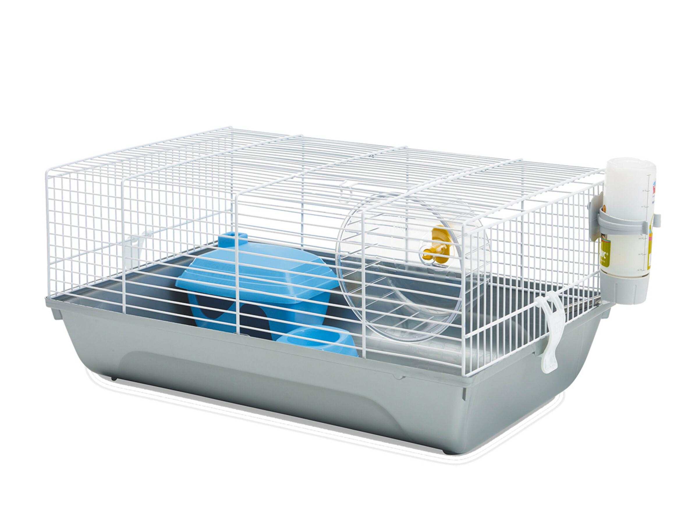 Hamsterkooi Home Martha Wit/grijs 46,5x29,5x21cm | Bopets