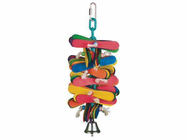 Speelgoed vogel Frisko multicolor 25cm