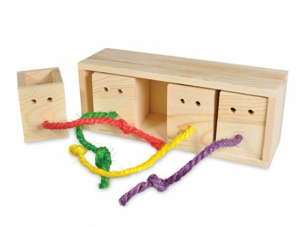 Speelgoed vogel hout Hide and Seek 21cm