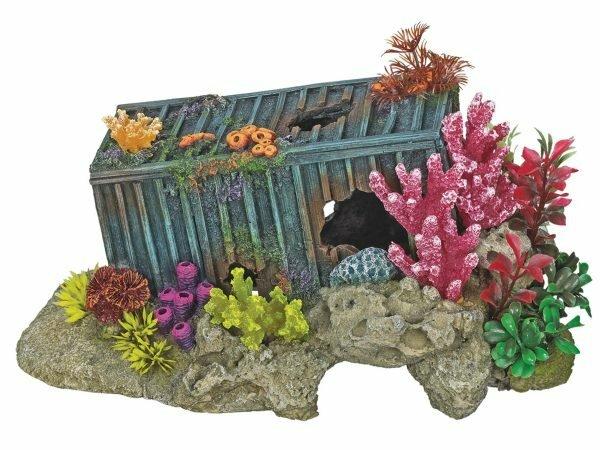 Aqua Deco Container + roze koraal 300x195x150mm