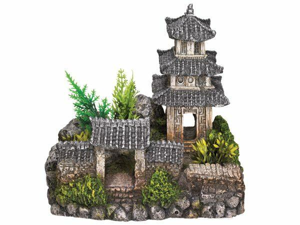 Aqua Deco Aziatische tempel 185x142x170mm