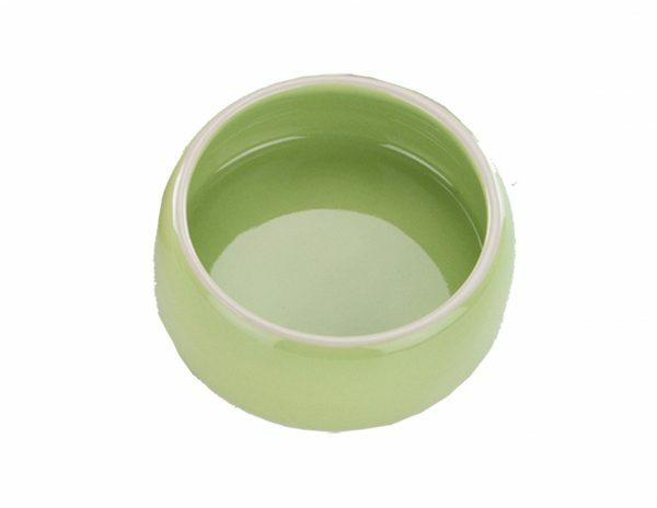 Eetpot knaagdier aardewerk groen Ø12cm