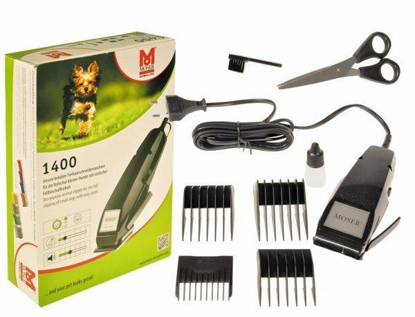 MOSER tondeuse Kit 1400 + 4 opzetkammen