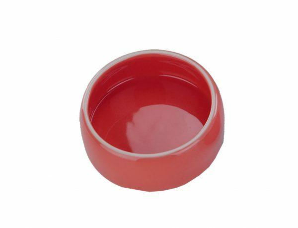 Eetpot knaagdier aardewerk rood Ø12cm