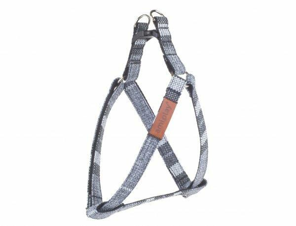 Ami Harnas London aanpasbaar grijs 20-35cmx10mm S
