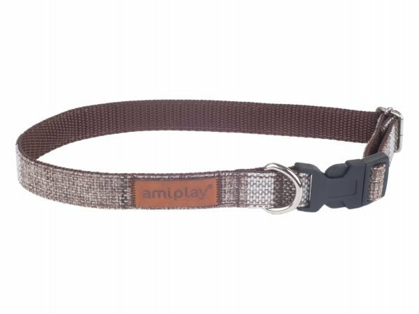 Ami Halsband London aanpasb. bruin 25-40cmx15mm M