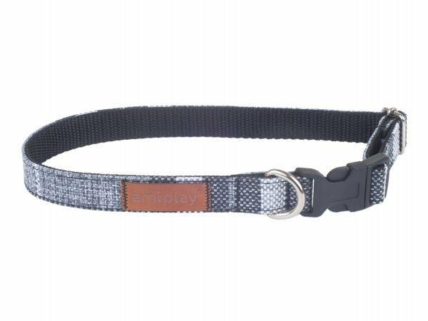 Ami Halsband London aanpasb. grijs 25-40cmx15mm M