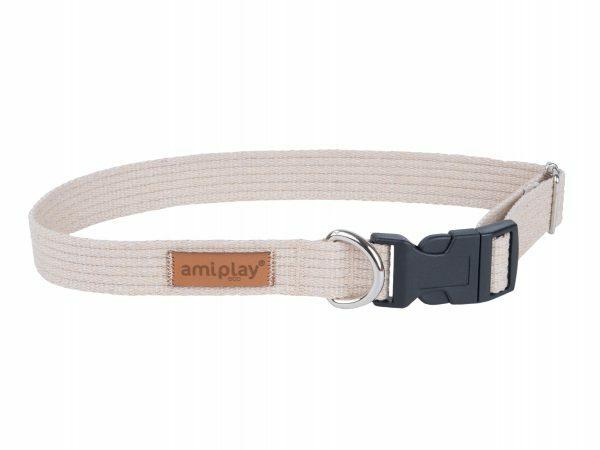 Ami Halsband Cotton aanpasb. beige 28-40cmx15mmS