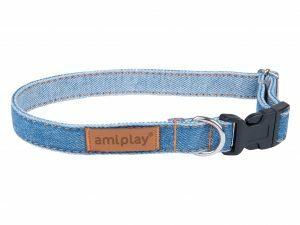 Ami Halsband Denim aanpasb. blauw 20-35cmx10mm S