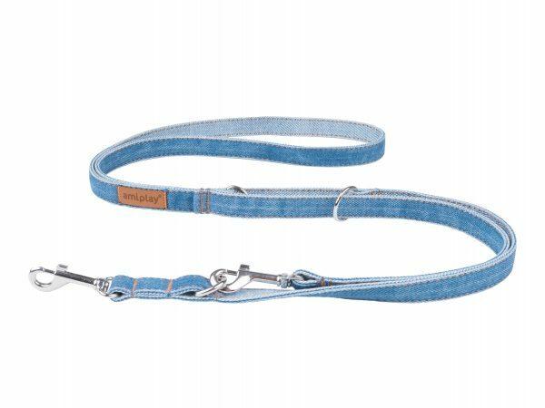 Ami Leiband Denim 6in1 blauw 100-200cmx15mm M