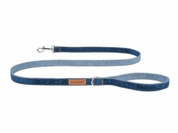Ami Leiband Denim marineblauw 140cmx20mm L