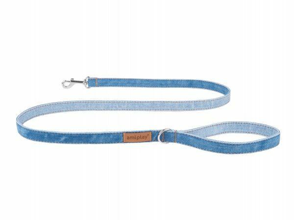 Ami Leiband Denim blauw 140cmx10mm S