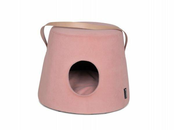 Poef voor hond Marie fluweel roze