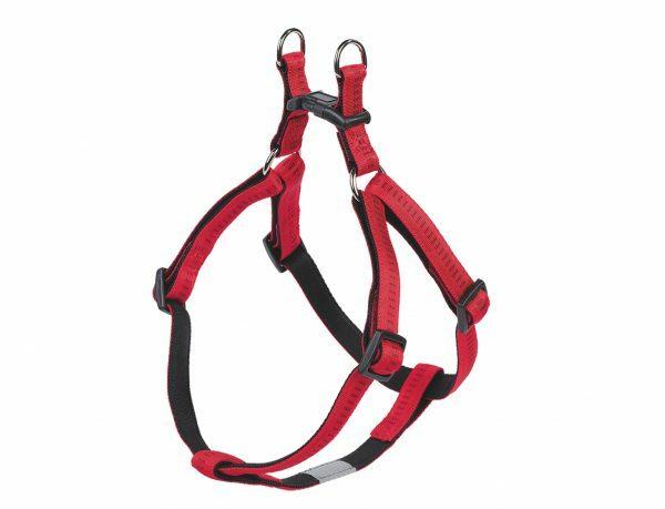 Harnas hond nylon Soft Grip rood 25mmx60-86cm