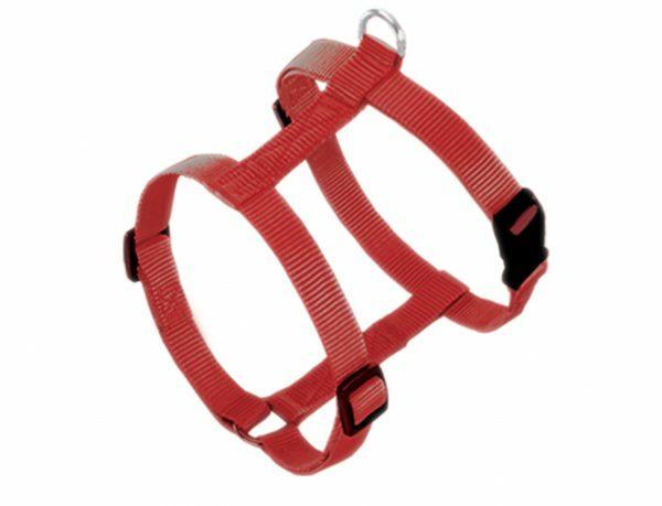 Harnas hond nylon Classic rood 25mmx70-90cm