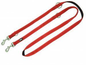 Politieleiband nylon Soft Grip rood 20mmx2m