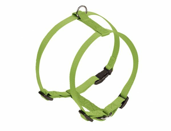 Harnas hond nylon Classic groen 25mmx70-90cm