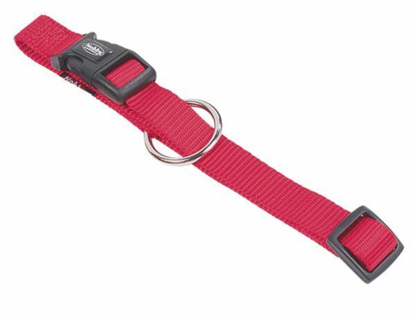 Halsband hond nylon Classic rood 20mmx40-55cm