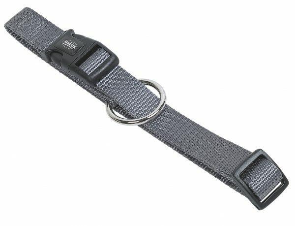 Halsband hond nylon Classic taupe 15mmx30-45cm
