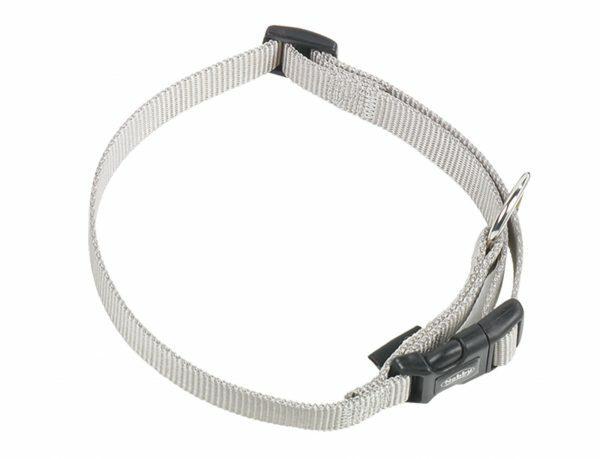 Halsband hond nylon Classic grijs 10mmx13-20cm
