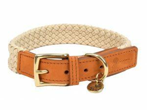 Halsband hond Tau lichtbruin 40cmx25mm S