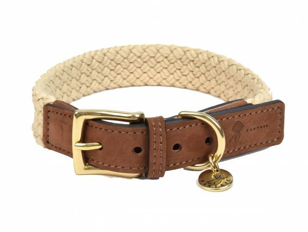 Halsband hond Tau donkerbruin 50cmx25mm L