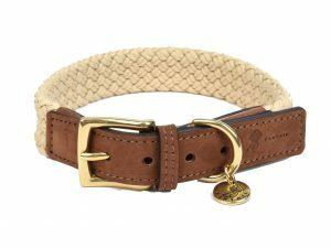 Halsband hond Tau donkerbruin 45cmx25mm M