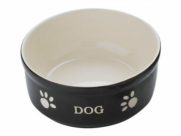 "Eetpot hond aardewerk ""Dog"" zwart Ø15,5cm"