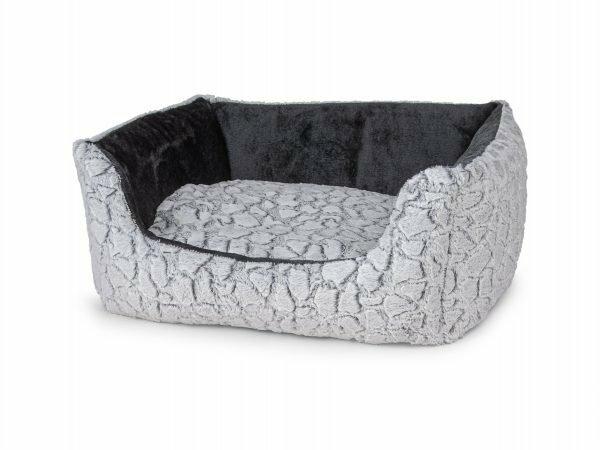 Hondenmand Mounty Ice grijs/antraciet 80x70x25cm