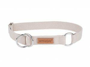 Ami Halsband Cotton Half-check be. 34-55cmx30mm XL