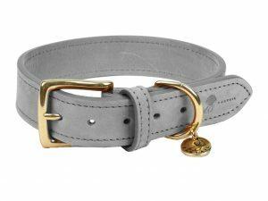 Halsband hond Nubu grijs 45cmx30mm M