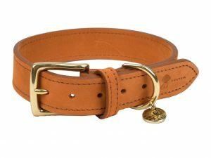 Halsband hond Nubu lichtbruin 50cmx30mm L