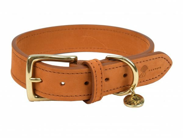 Halsband hond Nubu lichtbruin 40cmx25mm S