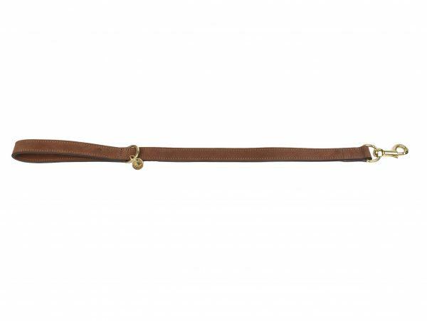 Leiband kort hond Nubu donkerbruin 60cmx25mm